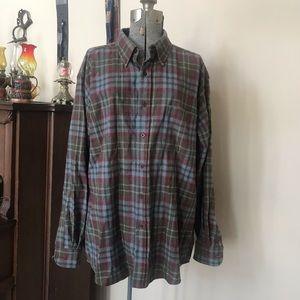 PENDLETON Flannel Plaid Wool Fireside Shirt